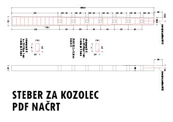 pdf načrt kozolec